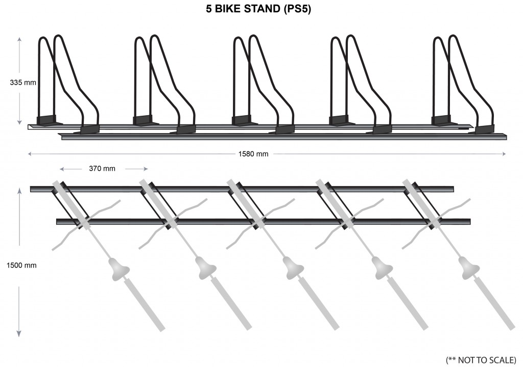 Bicycle Stand Specifications - 4 bikes
